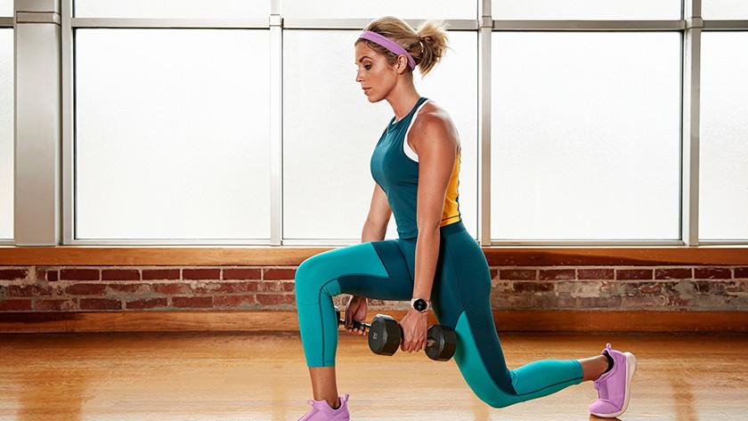 Fitnesser met sporthorloge