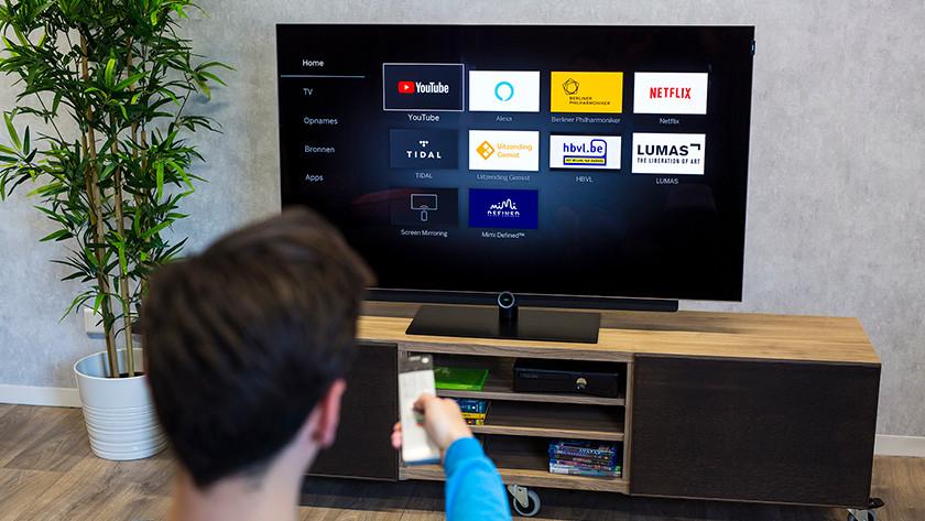 Gebruiksgemak van een basis smart tv platform