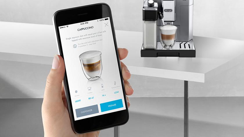 Delonghi volautomaat met app