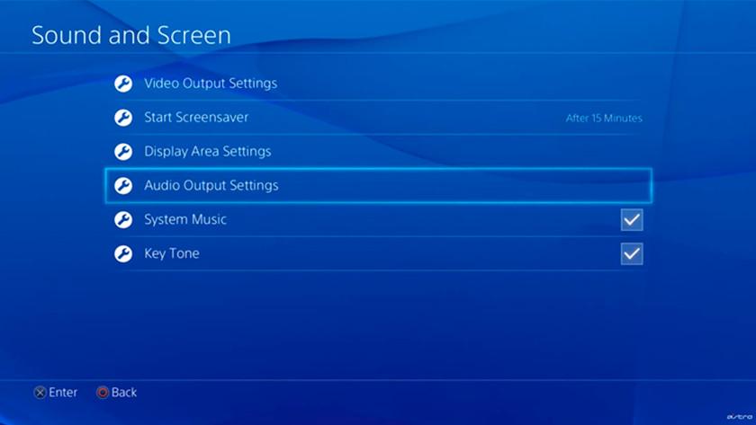 Geluid instellen op PS4