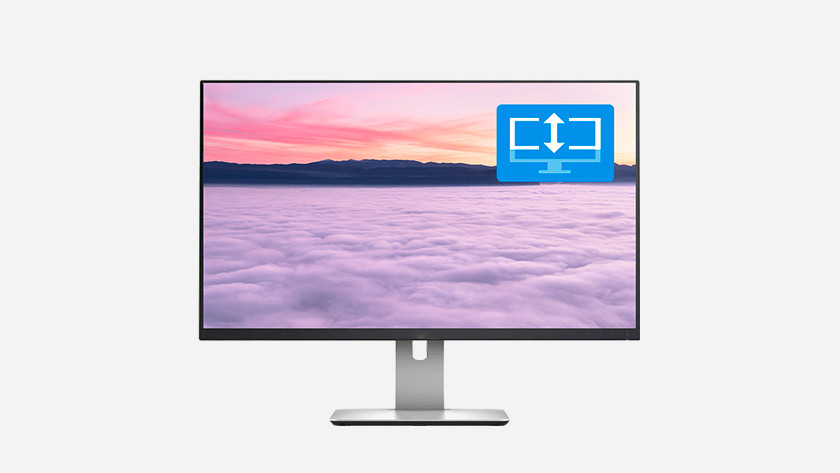 In hoogte verstelbare monitor