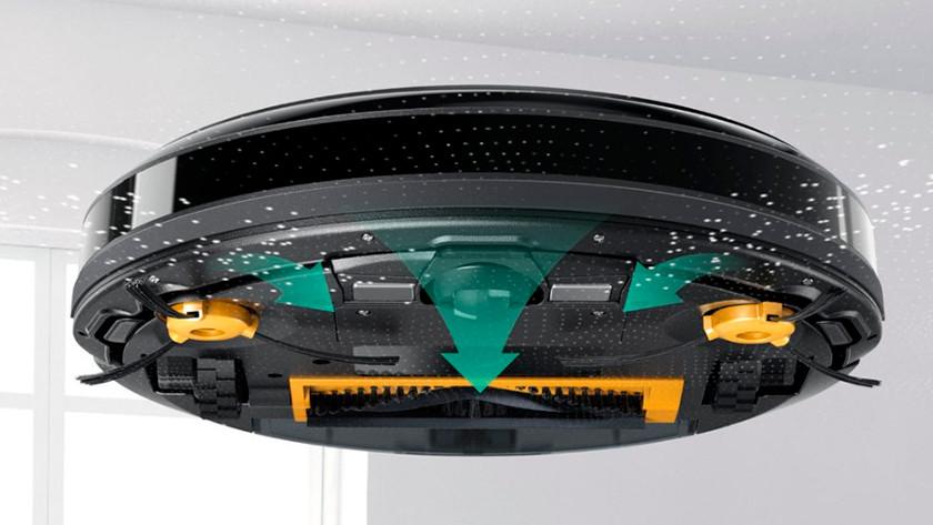 Middenborstel van een robotstofzuiger
