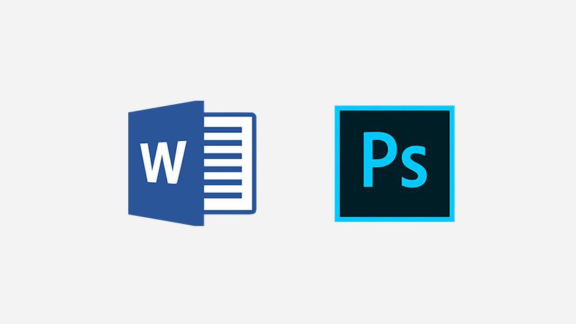 Icônes Word et Photoshop.
