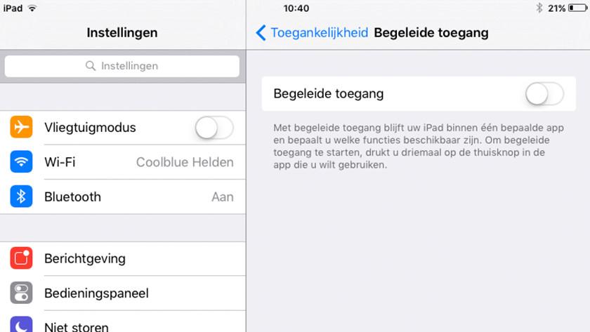 begeleide toegang iOS