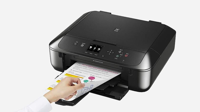 Canon pixma printer aan het printen