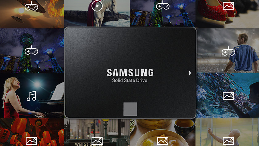 SSD with all kinds of images around it.