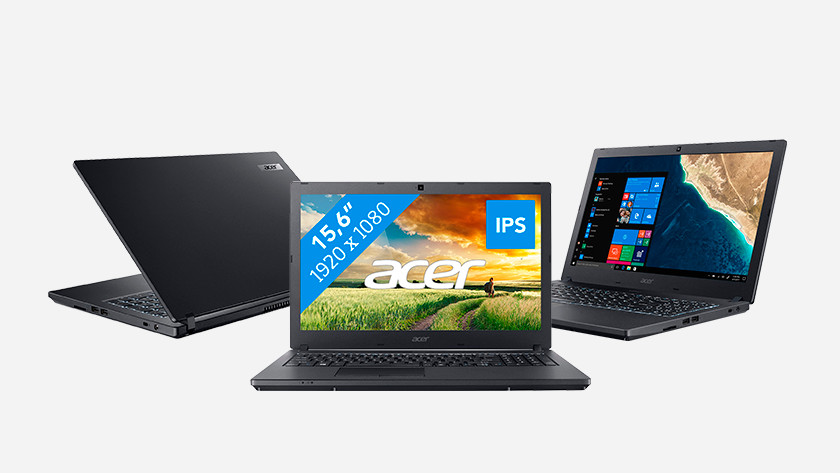 Drie Acer Travelmate laptops.