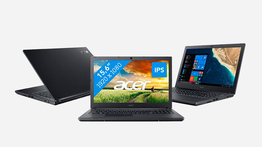 Three Acer Travelmate laptops.