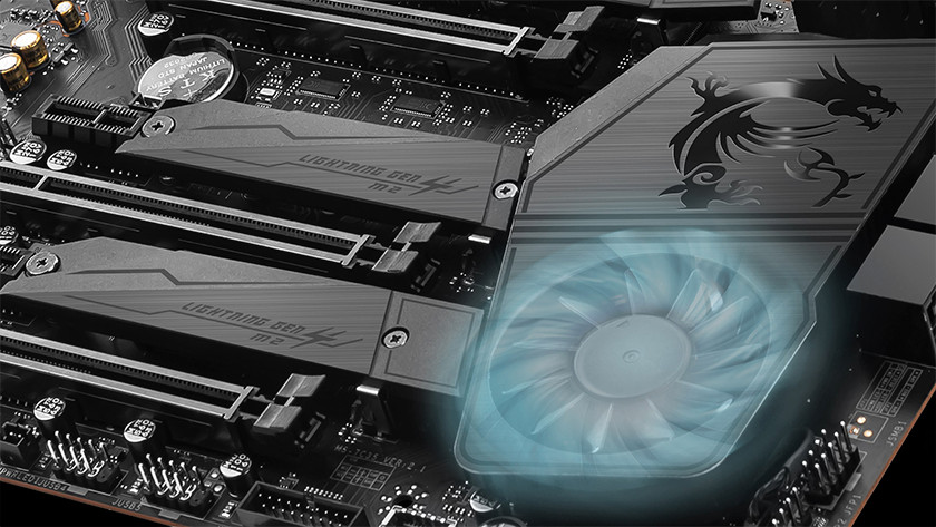 Active cooling of the chipset