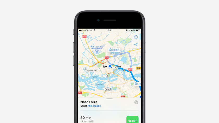 Verkeersinformatie op smartphone