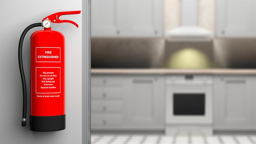 Fire extinguisher kitchen