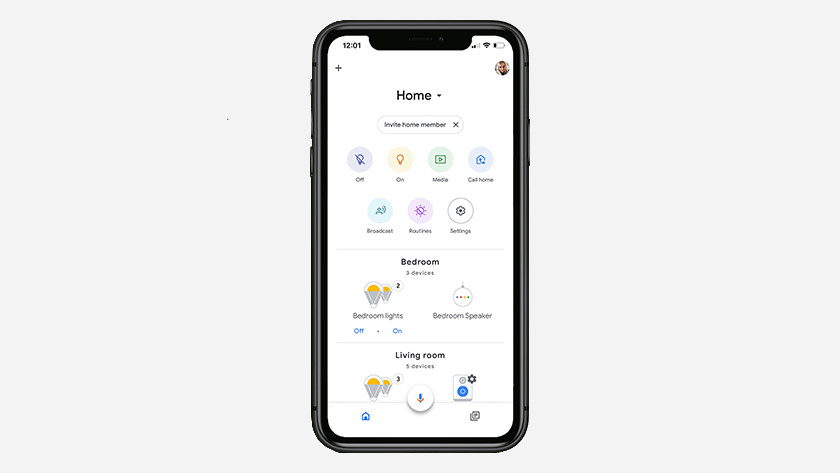 Huis in Google Home app