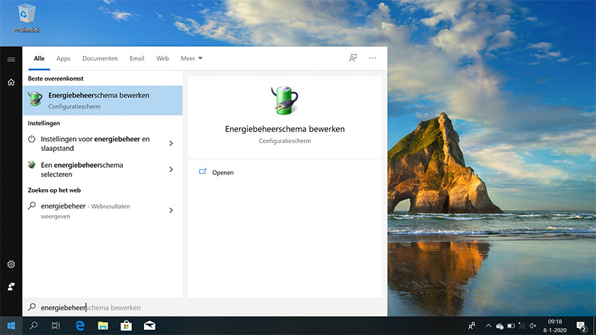 Open Customize Power Plan in the Windows 10 Start Menu.