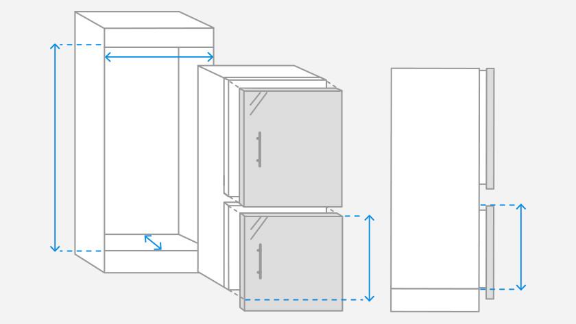 Dimensions de niche du réfrigérateur