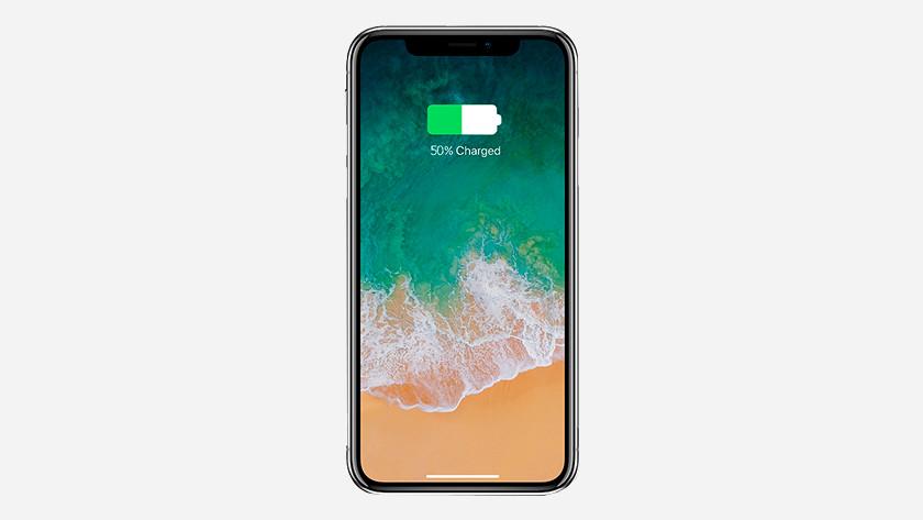 ranger iPhone avec batterie à moitié vide