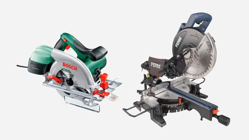 Sawing machines for sawing laminate