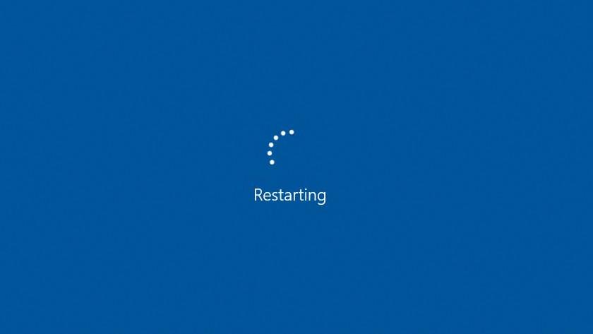 Windows opnieuw opstarten.