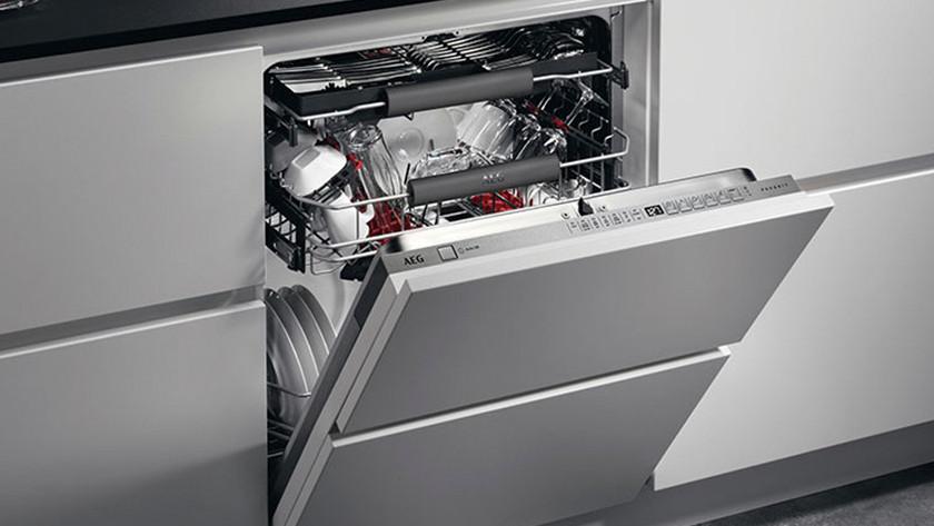 Dishwasher half open