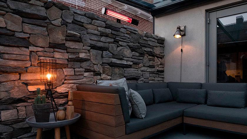 Besloten terras 16 m² - 20 m²