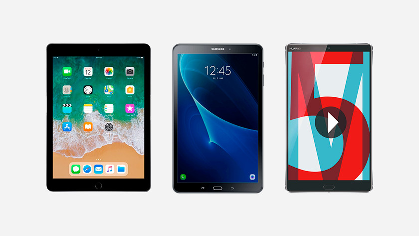 iPad Samsung Galaxy Tab A 10,1 Huawei M5 8 inches