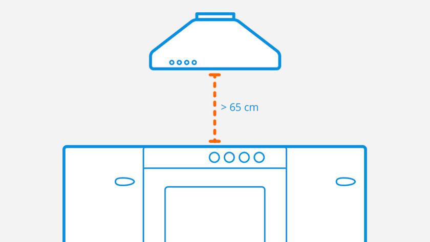 Wandschouw dampkap ophangen