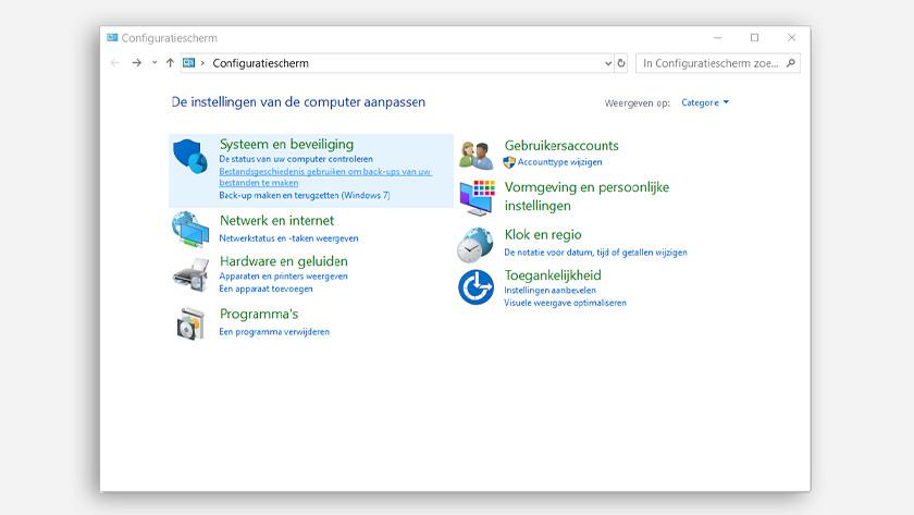 Sélectionnez l'écran de configuration et l'historique des données