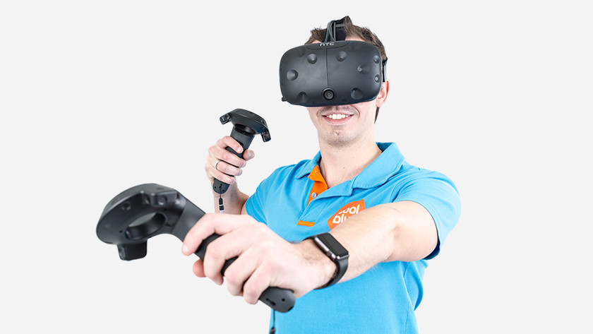 VR gamen in vrije ruimte
