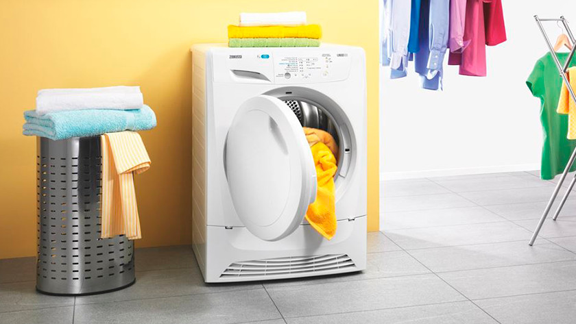 Dryer with full laundry basket