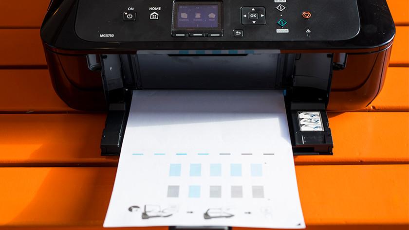 Printer printout