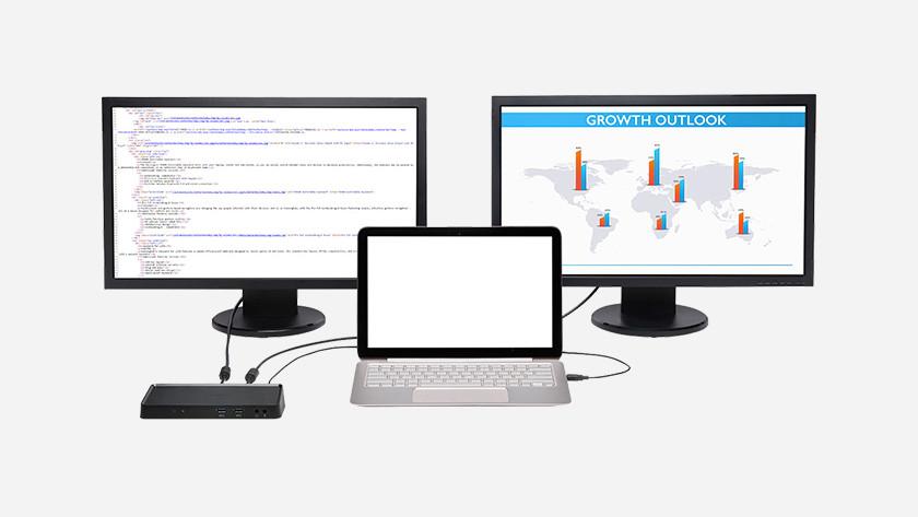 Monitors docking station laptop
