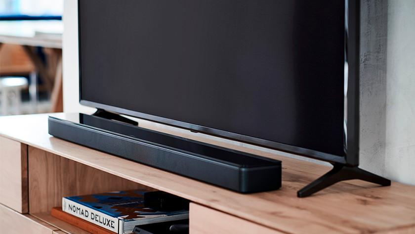 Soundbar met televisie