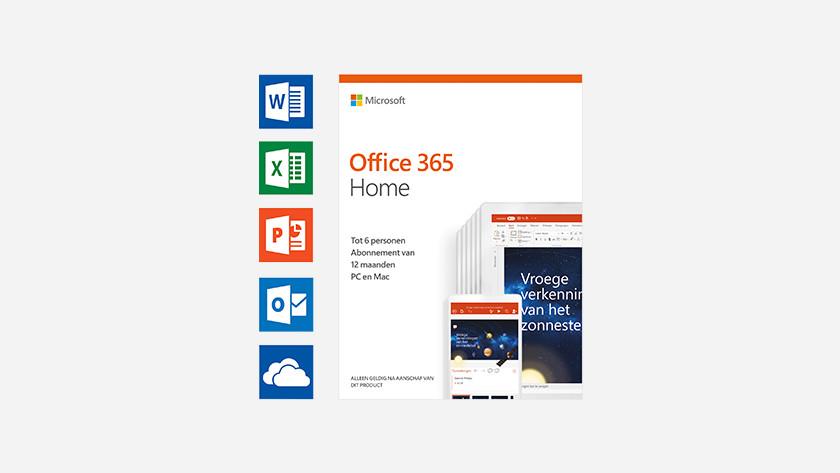 Een doos van Microsoft Office 365 Home.