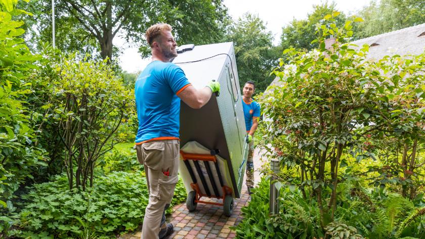 Amerikaanse koelkast verplaatsen