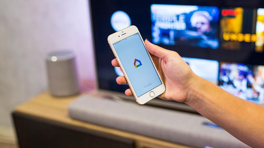Download de Google Home app