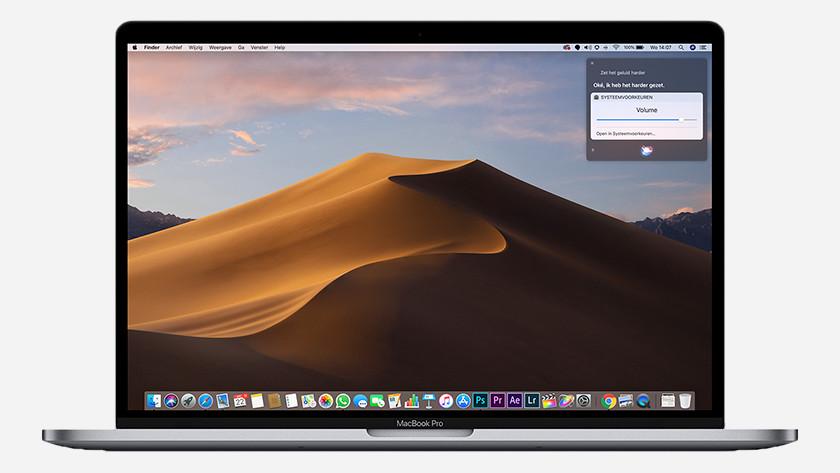 Siri op MacBook