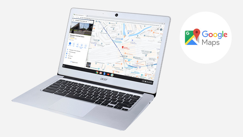 Google Maps op een Acer Chromebook