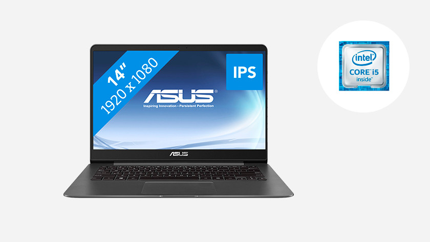 An Asus laptop with Intel Core i5 icon.
