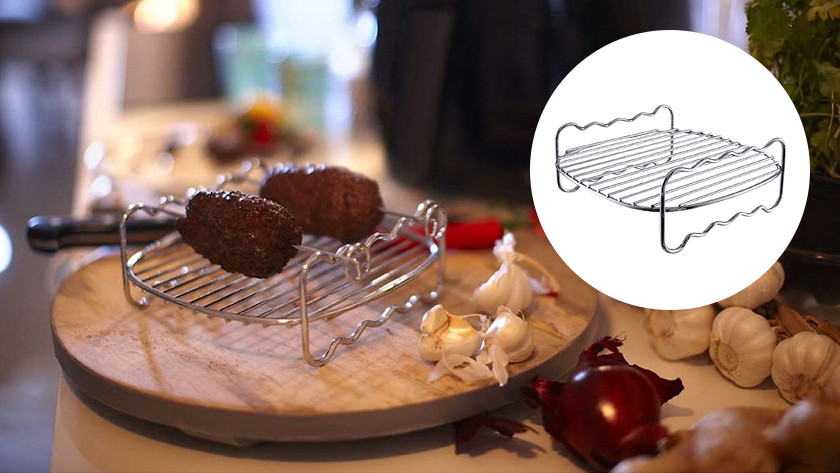 Stainless steel frying rack airfryer