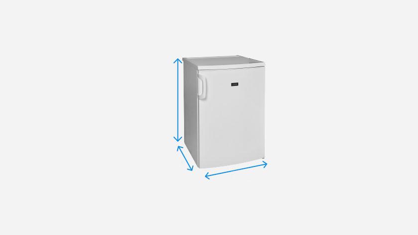 Dimensions d'un réfrigérateur de table