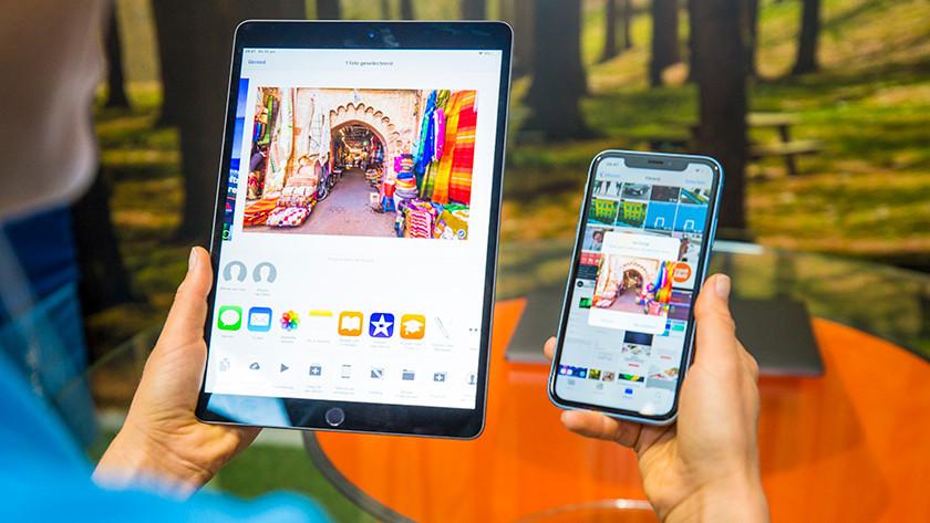Apple iPhone en Apple iPad in gebruik