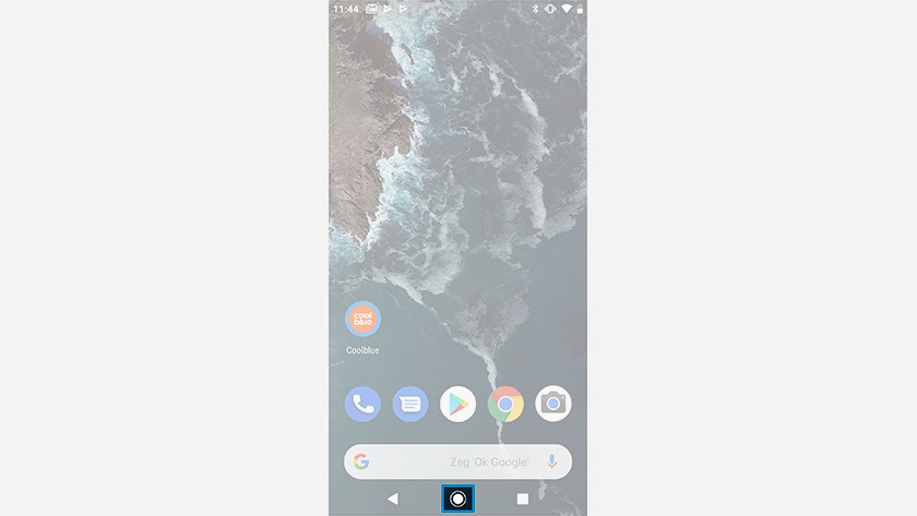 Open the Android One smartphone app drawer