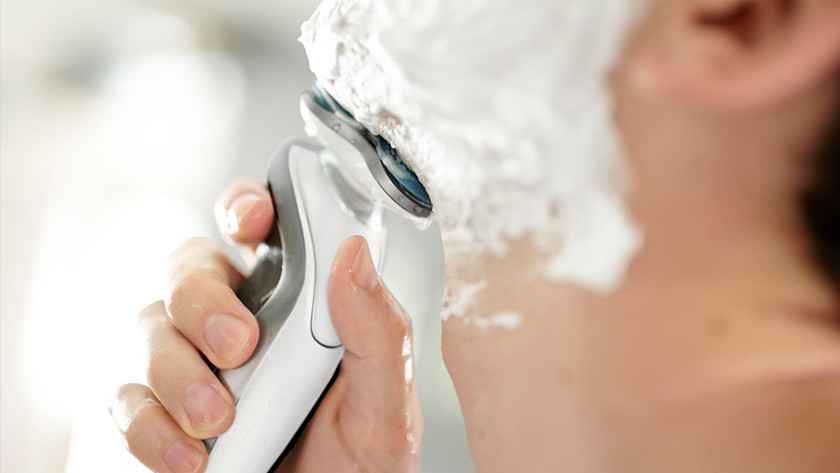 Don't press the electric shaver on your skin too hard