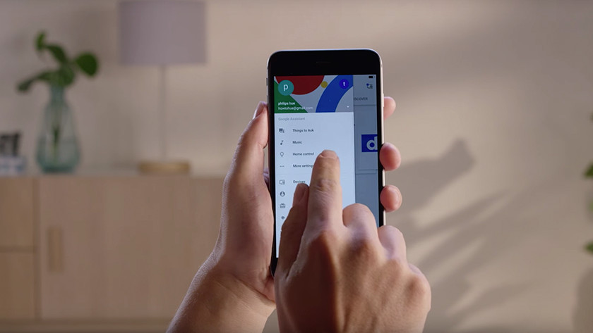 Philips Hue bedienen met Google Assistent