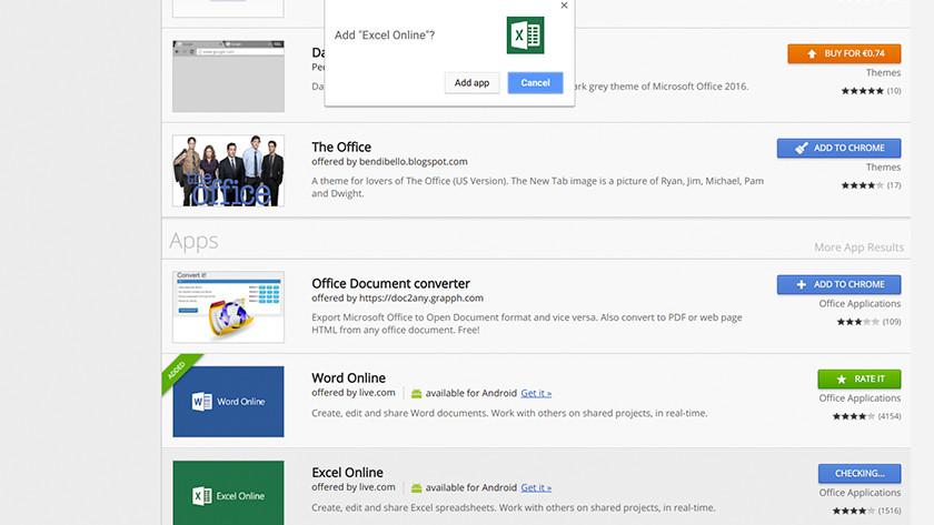 Installeer de Office apps.