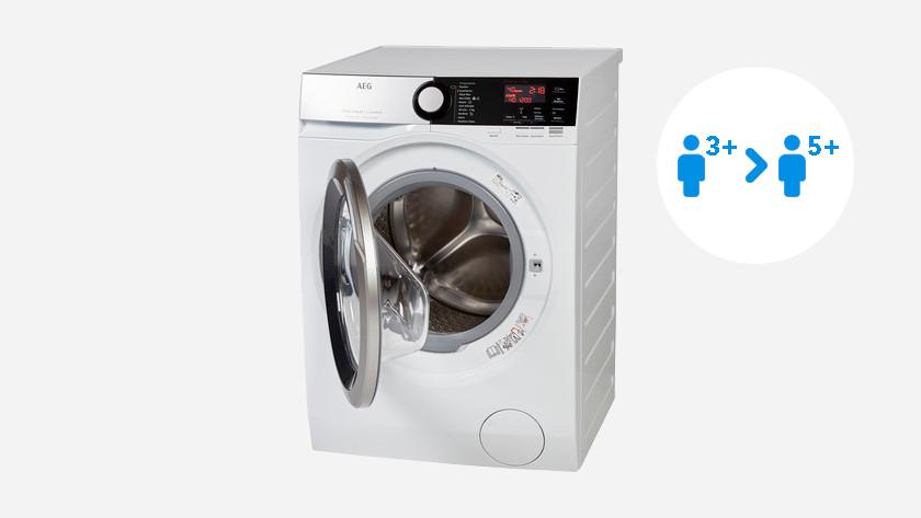 Wasmachine met 8 tot 10 kilo vulgewicht