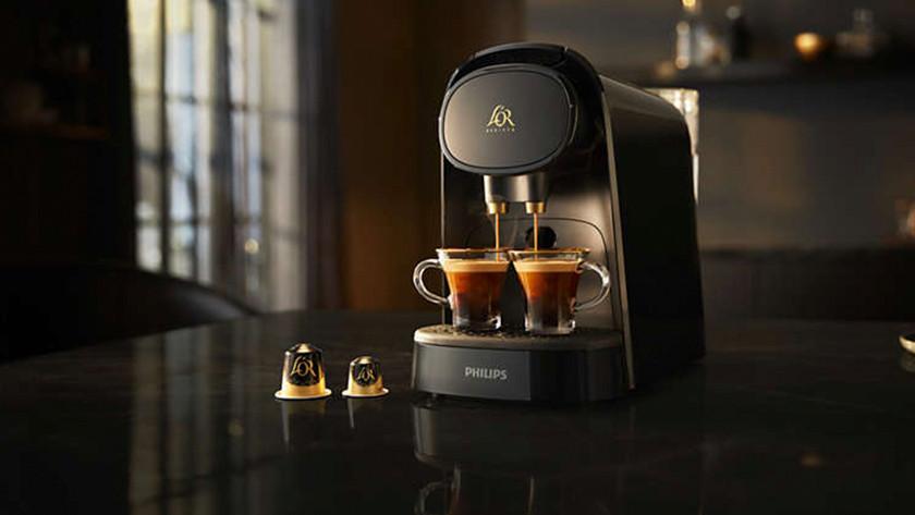 Een Philips L'OR Barista zet 2 espresso's tegelijk