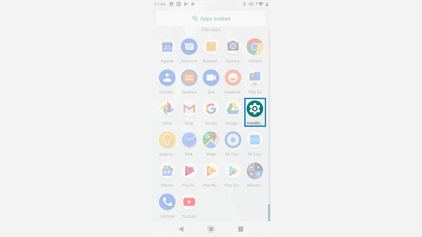 Android One instellingen