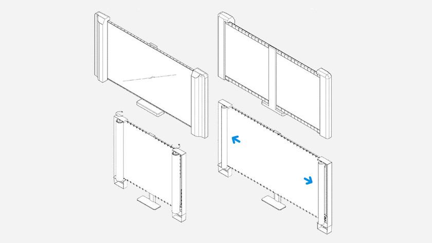 Samsung roll-up TV