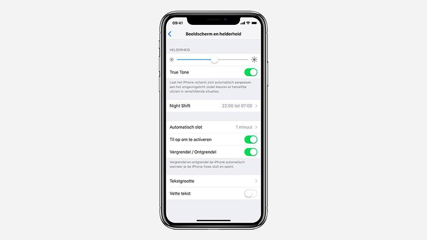 Luminosité de l'écran iPhone