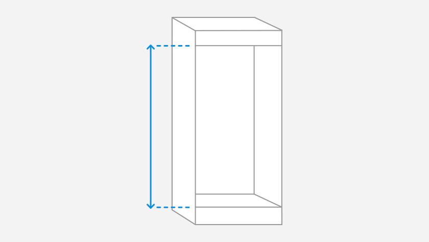 Mesurer la hauteur de la niche d'encastrement